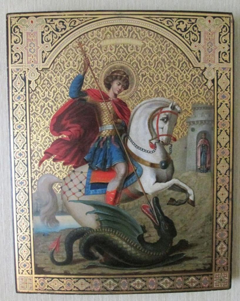 Почему на иконе святой Георгий протыкает змея 6daf20ccec4544b9ccac04eafbd3450d